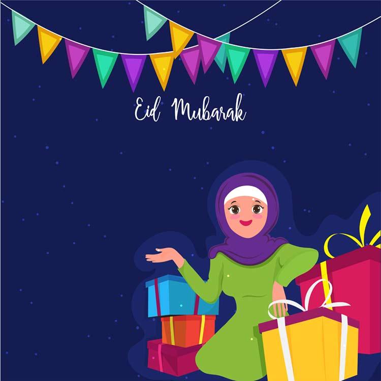 Eid Mobarak Image For Kids