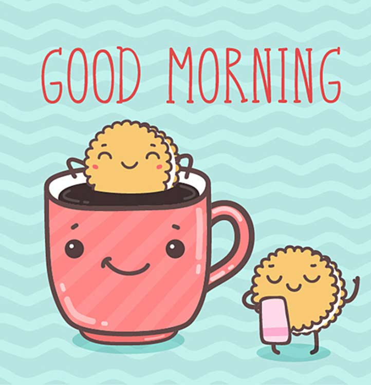 Good morning coffee animated pic