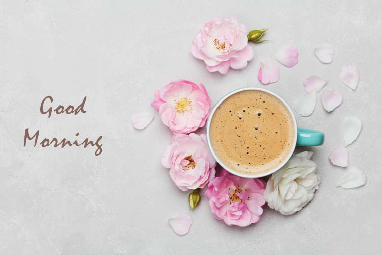 Good morning coffee images flower