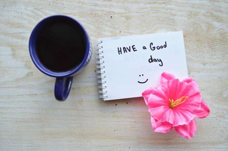 Good morning flower message