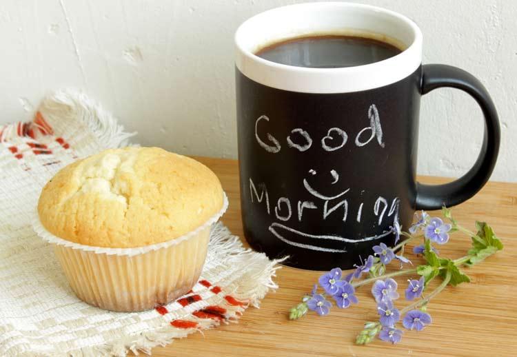 Good morning flowers coffee