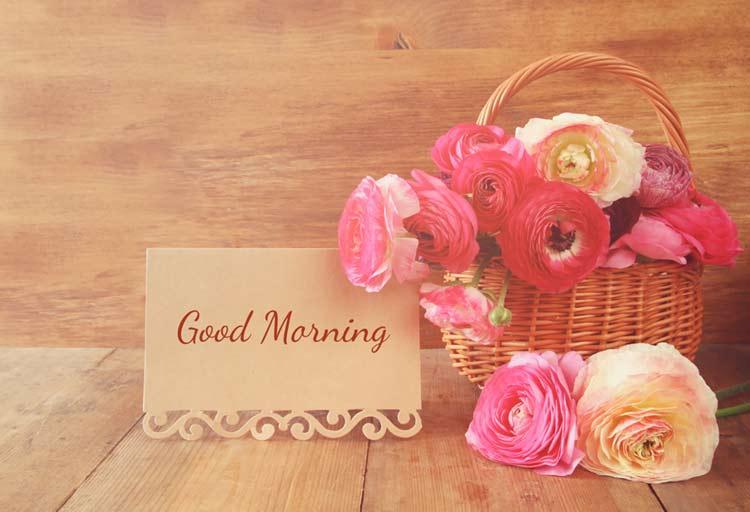 Good morning romantic roses