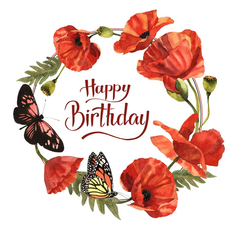 Birthday images with flowers and quotes