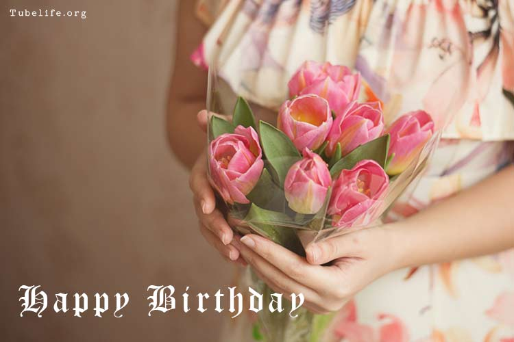 Birthday wishes with rose image