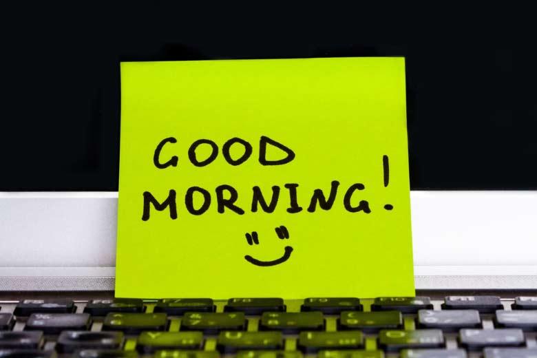 Cute ways to say good morning