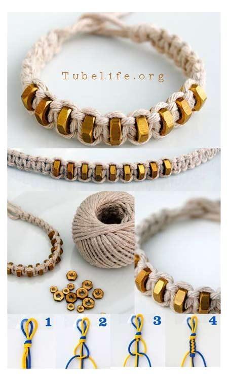 DIY bracelets step by step