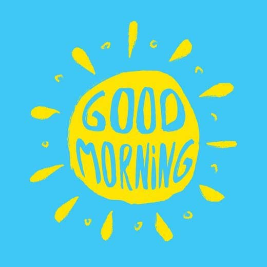 Good morning sunshine clipart