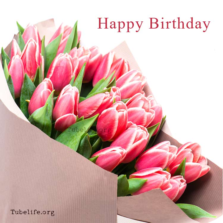 Happy Birthday wishes with flowers images