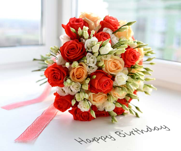 Happy Birthday Wishes With Flowers' Images