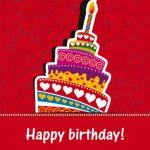 24 Beautiful Happy Birthday Cake with Wishes HD Images Free Download