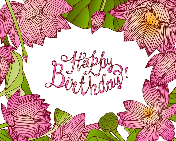 Happy Birthday Flower Images Free Download Flowers Image With Message