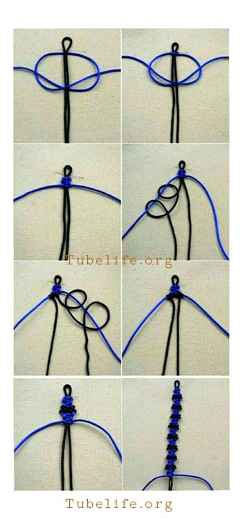 How to make a friendship bracelet with 2 strings