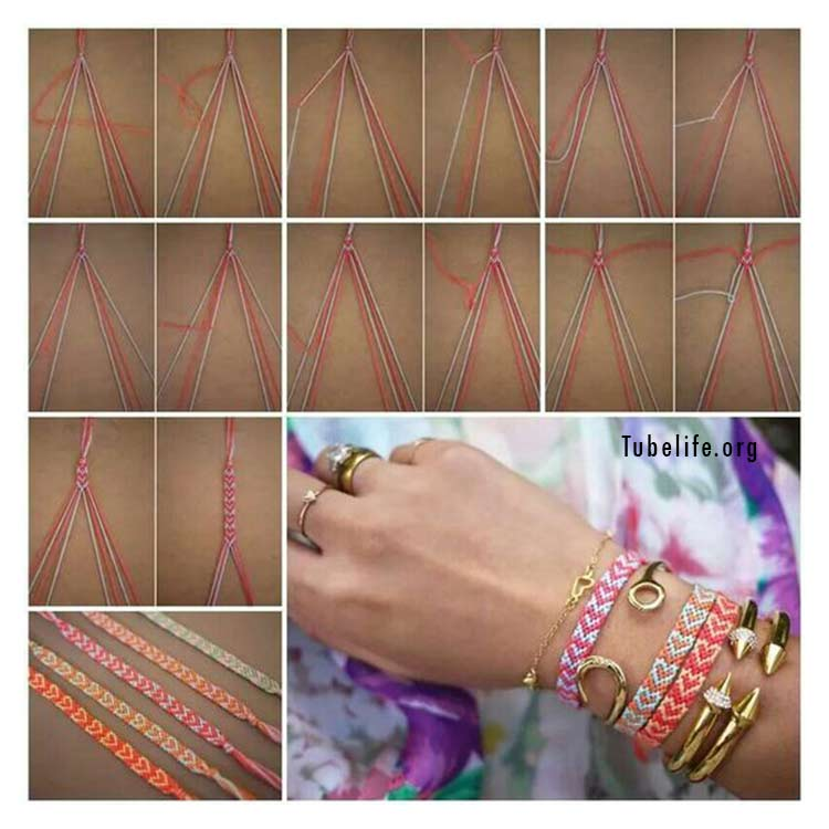 How to make bracelets with string step by step with picture