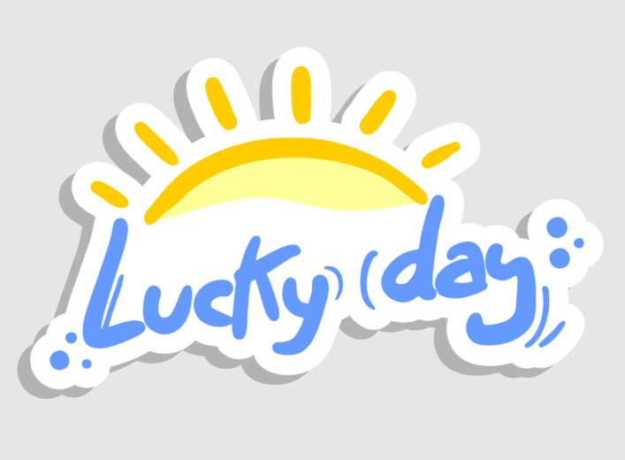 Lucky day wish on good morning