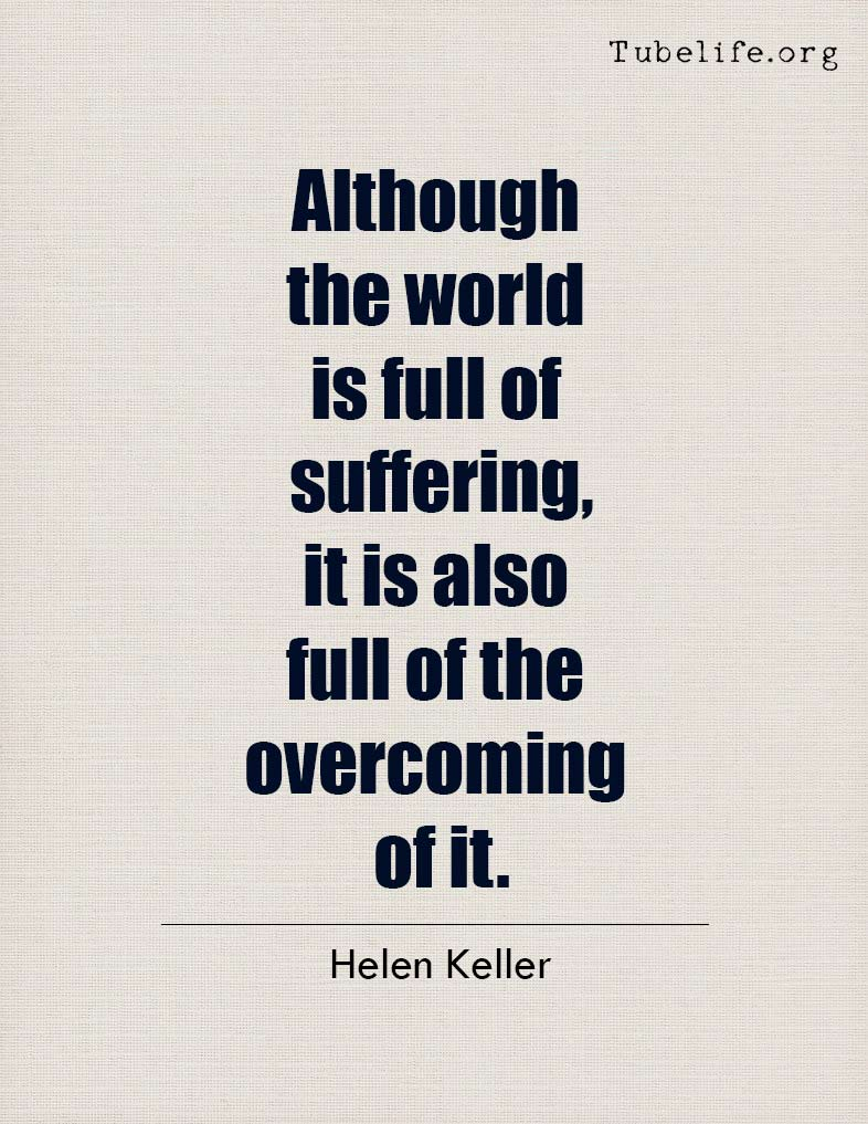 Inspirational Quote Helen Keller