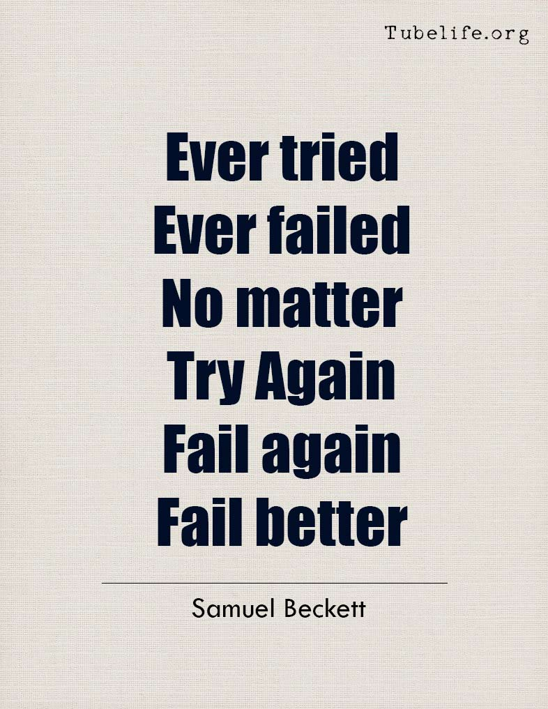 Inspirational Quote Samuel Beckett