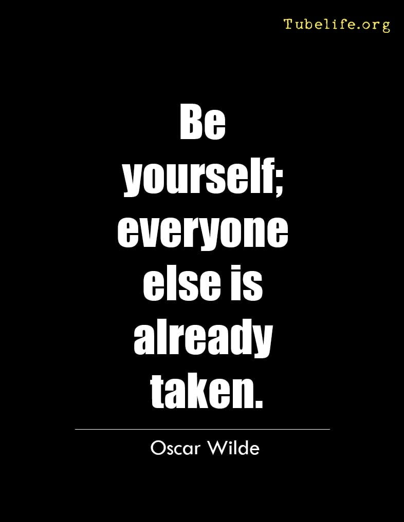 Inspirational Quote Oscar Wilde