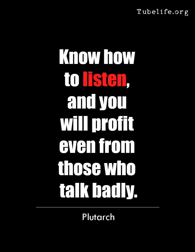 Inspirational Quote Plutarch on Listening
