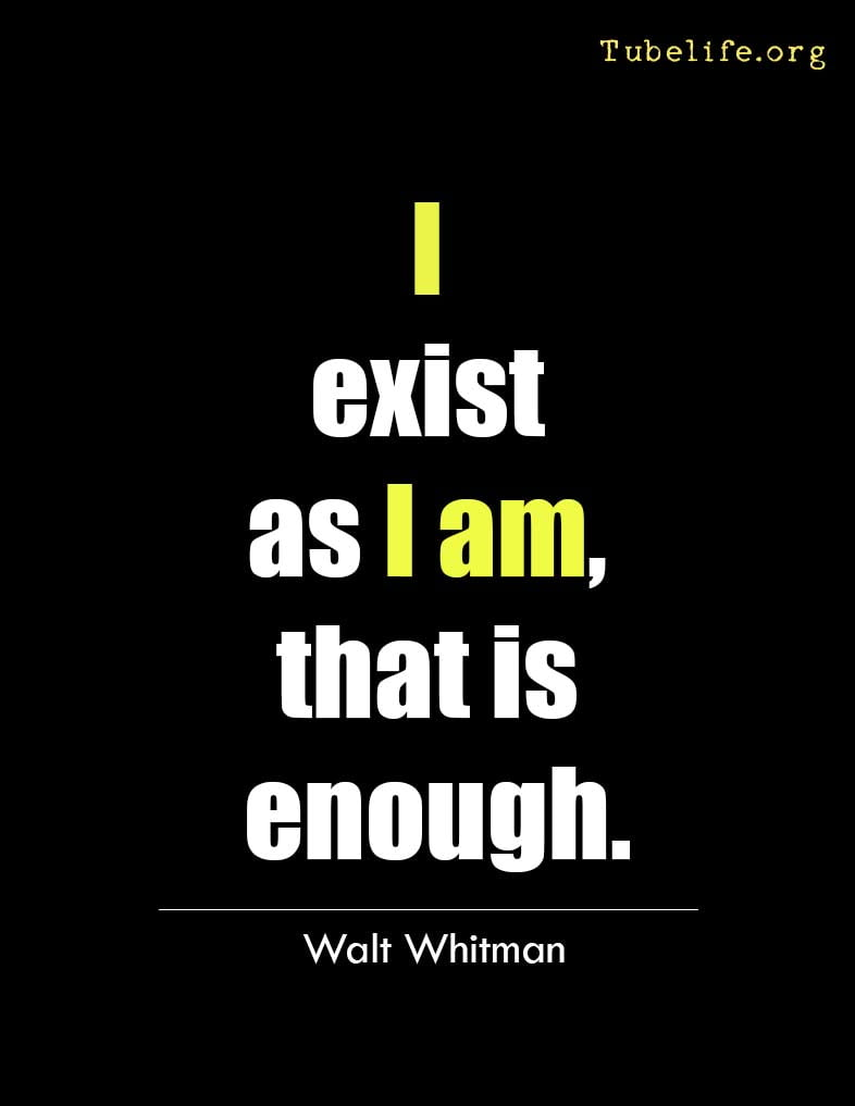 Inspirational Quote Walt Whitman