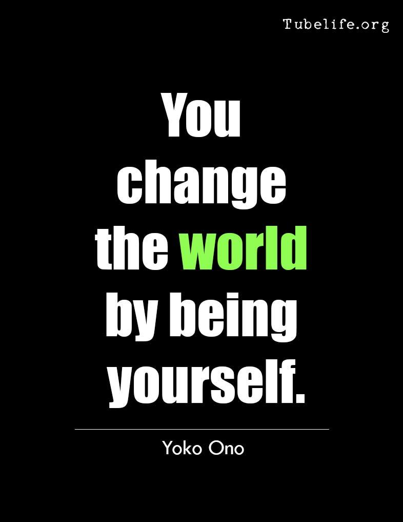 Inspirational Quote Yoko Ono