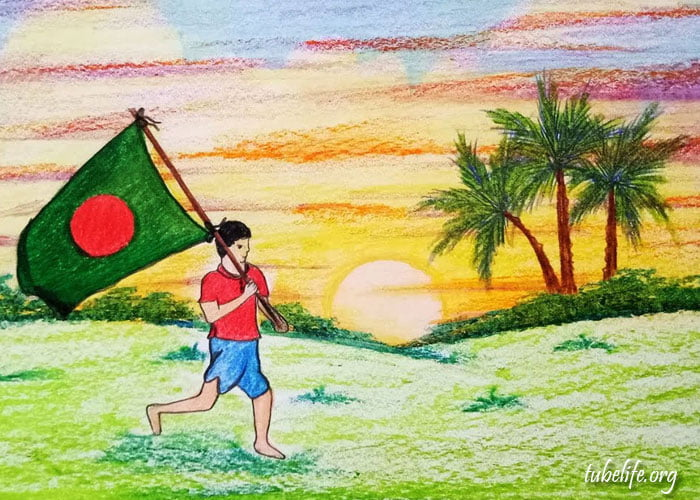 Drawing of Independence Day of Bangladesh