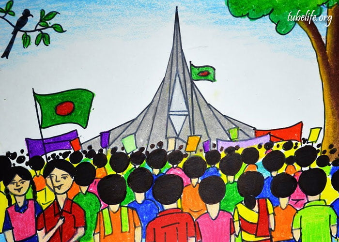 Independence Day of Bangladesh Drawing of Kids