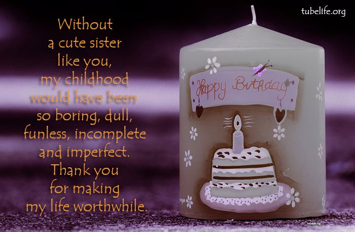 Cute Birthday Quotes for Sisters