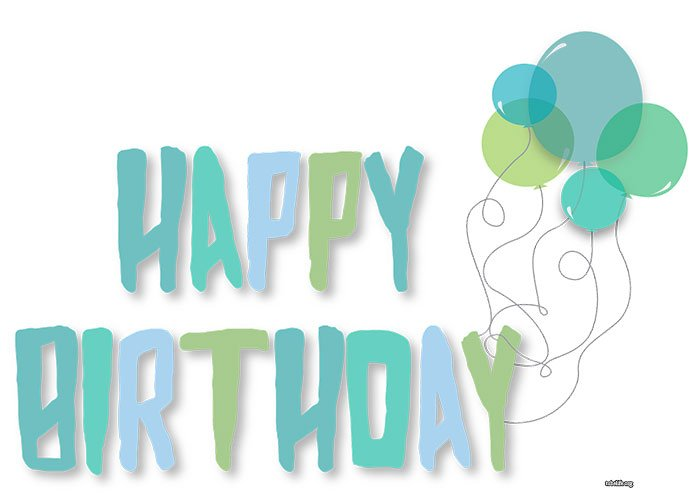 Free Happy Birthday banner printable pdf