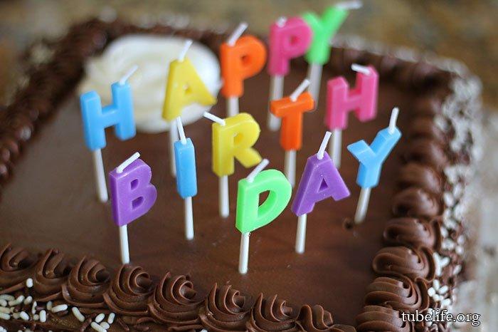 Happy Birthday Candle cake