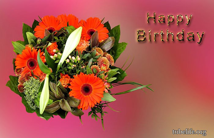 Sweet Birthday Wishes with flowers bouquet
