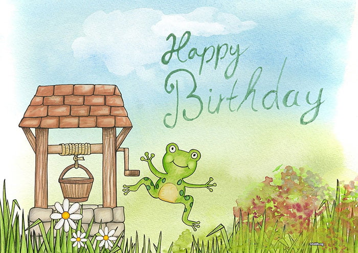 Watercolor Birthday Card Tutorial