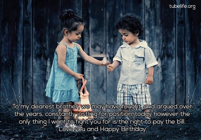happy birthday wishes for brother from Sister