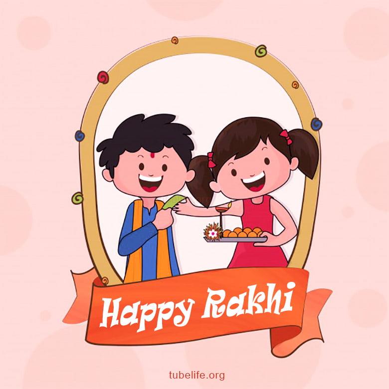 Happy Raksha Bandhan Image Wallpaper for Kids